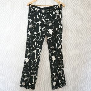 Ralph Lauren Black Label Printed Black Pants